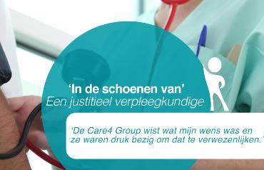 IN DE SCHOENEN VAN: Een justitieel verpleegkundige